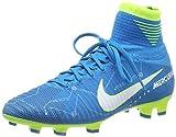 Nike Junior Mercurial Superfly V DF NJR FG Football Boots 921483 Soccer Cleats (UK 5 US 5.5Y EU 38, Blue Orbit White 400)