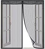 Lictin Zanzariera per Finestra incl - Dimensions 130 x 150CM, Suitable for 130 cm Finestra - Excellent Quality Network, Nero