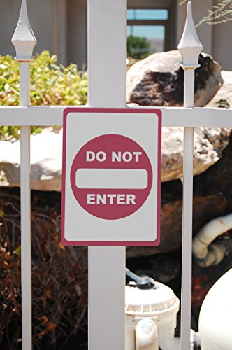Do Not Enter - Parking Lot Sign - Traffic Directional Signs - Aluminum Metal Photo #2