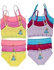 ToBeInStyle Girl's Pack of 6 Racerback Training Bra Tops & Matching Boyshort Bottoms Underwear
