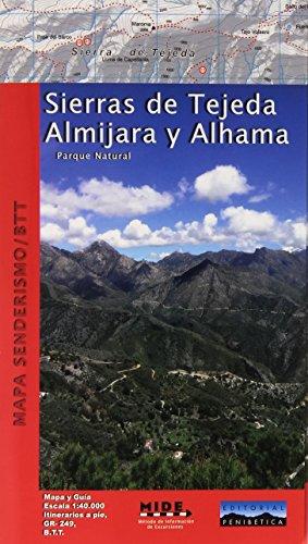 Mapa Sierras de Tejeda, Almijara y Alhama. Excursionista. Escala 1:40.000. Editorial Penibética.