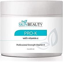 4oz -Pro-K Vitamin K Cream Professional Strength- Rosacea Capillaries, Thread Spider Varicose Veins, Puffy Dark Under Eye Circles. Guaranteed to Work
