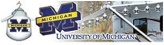 Polymer Products LLC NCAA-MCH617404 University of Michigan Six Globe String Light Set
