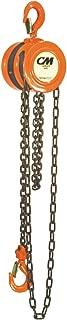 CM 2255 Steel Lightweight Hand Chain Hoist, 1000 lbs Capacity, 10' Lift Height, 1-1/16