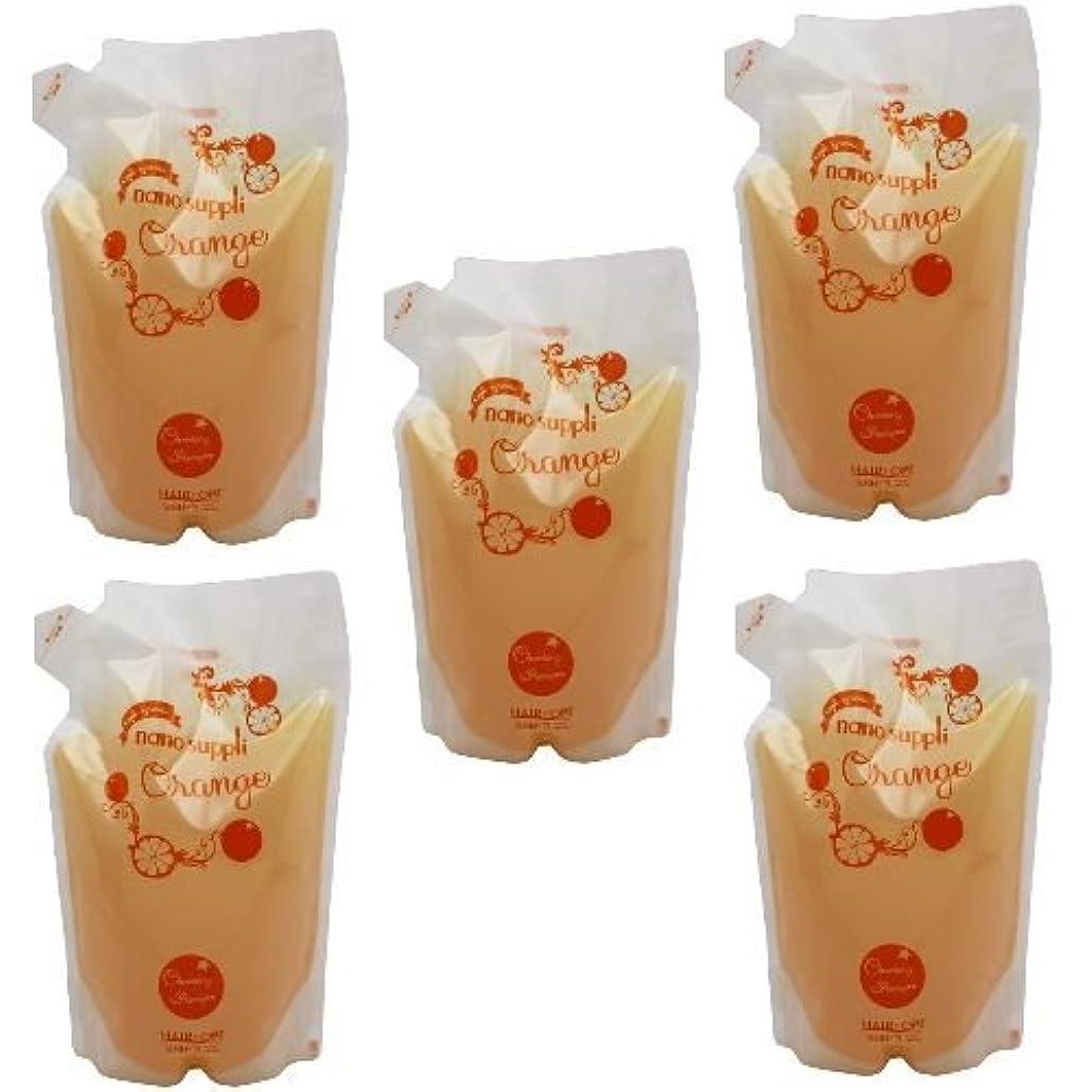 おびえたレイ時計回り【x5個セット】 サニープレイス ナノサプリ ヘアクレンジングシャンプー オレンジ 800ml (詰替用)