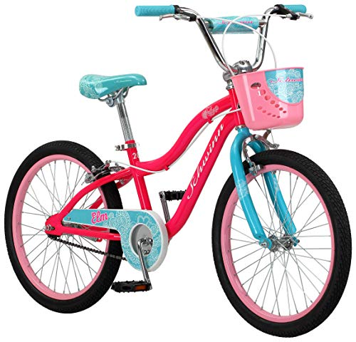 Schwinn Elm Girls Bike for Toddlers and Kids, 20-Inch Wheels, Pink