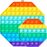 🌈【Safe & Premium Quality】 Push pop fidget toys is made of silicone material with safety tested. It is reusable, washable, durable, and portable, You needn't worry your kid's toys will be broken anymore, Non-toxic, tasteless, will not cause any harm t...