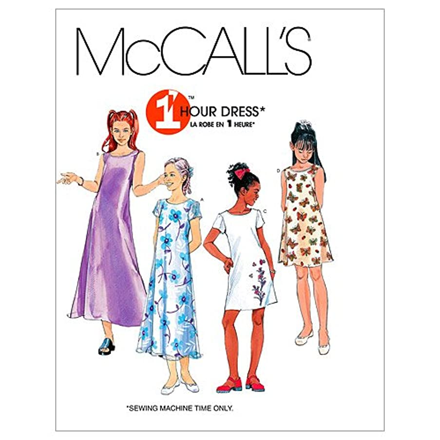 McCall's Patterns M6098 Girls' Dresses in 2 Lengths, Size CH (7-8-10)
