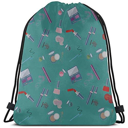 Schoonheid Make-up Kleurrijke Meisje Oogschaduw Rugzak String Polyester Trekkoord Tassen Make-up Trekkoord Tas Voor Gym Reizen
