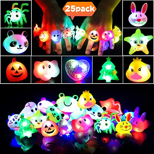Anillos LED Favores Fiesta Niños Anillos