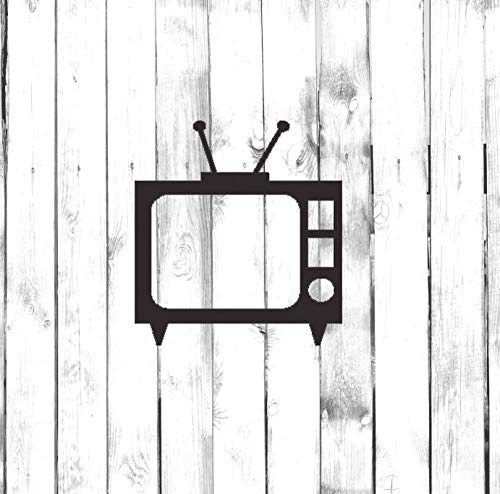 H421ld Old TV Icono con antenas – Di Cut calcomanía – coche, camión, hogar, teléfono, computadora, computadora portátil