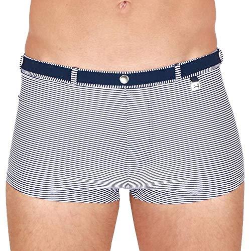 HOM - Hombre - Swim Shorts 'Belem - Elegante Traje de baño de diseño marítimo con cinturón