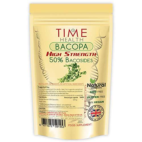 Bacopa Monnieri Très Puissant, 50% de bacosides - Sans Additifs (120 Capsule Pouch)