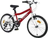 Moma Bikes, équipé Shimano Vélo de 20' SHIMANDO 7 Vitesses, Ideal partir de 120 a 135cm Mixte...