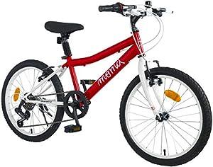 Moma Bikes Jungen BIKID20RUN Fahrrad 20 Zoll, 7 Gabelwechsel Shimano, von 6 Jahre für von 120 bis 135 cm, Rot, Unic Size