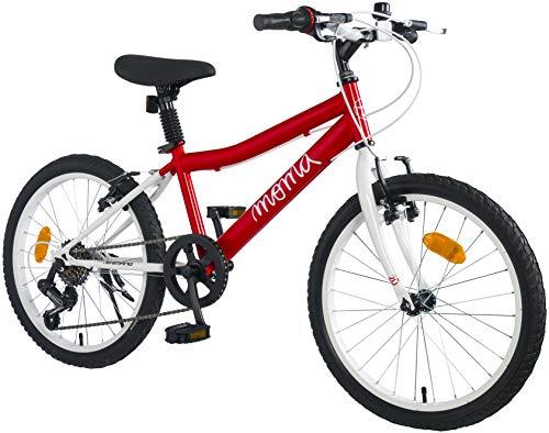 Moma Bikes Shimando 6V - Bicicleta Infantil 20', Rojo, Talla Única
