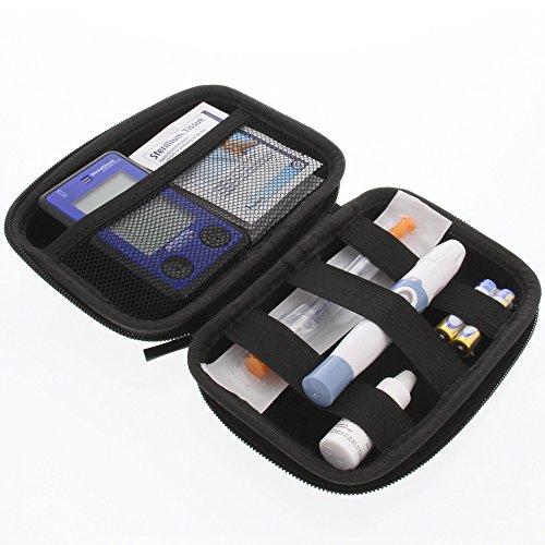 foto-kontor Tasche für Insulinspritzen und Zubehör Reisetasche Schutzhülle Schwarz