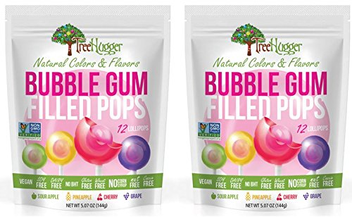 Tree Hugger Bubble Gum Filled Pops (2 Packs) 24 Pops