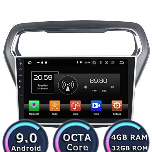 ROADYAKO 10.1Inch Head Unit pour Ford Escort 2014 2015 2016 Android 8.0 Autoradio Stéréo avec GPS Navigation 3G Lien Miroir RDS FM AM Bluetooth AUX Multimédia Audio Vidéo