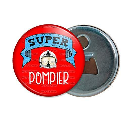 Décapsuleur Aimanté Magnet Super Pompier Humour Métier Idée Cadeau Ouvre Bouteille Refrigerateur