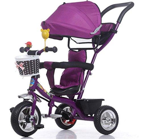 Best Bargain HAMIMI Children Tricycle Baby Stroller / 1-3-5 Years Old Baby Baby Stroller Baby Stroll...