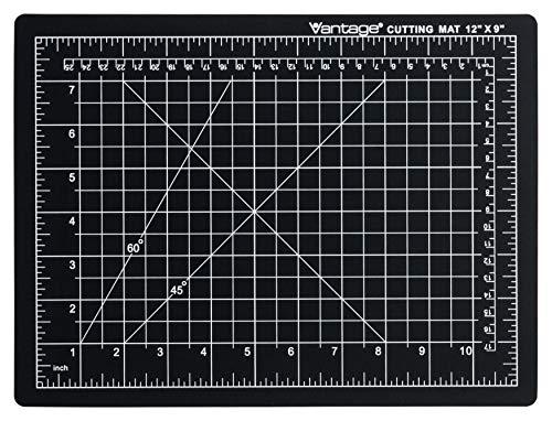 Dahle 10670 Vantage Cutting Mat, 9' x 12', Black