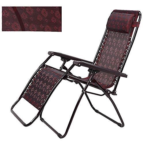 LVZAIXI opvouwbare ligstoelen Textoline Zero Gravity, verstelbare rugleuning fauteuil geschikt voor terras tuin gebruik, ligstoel 183 * 69 * 35cm