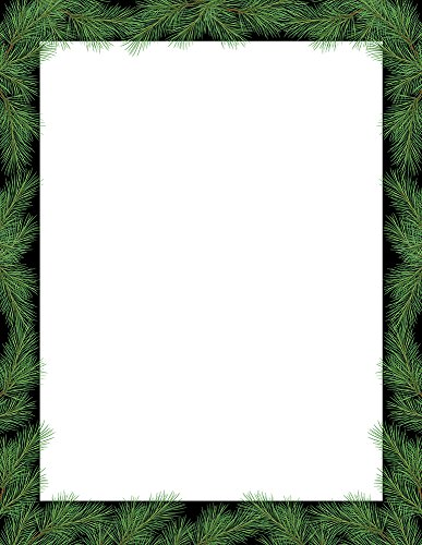 Great Papers! Christmas Pine Holiday Letterhead, 8.5' x 11', 80 sheets (2018009)