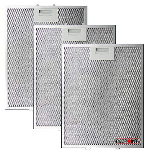 Kit de 3 filtros de aluminio para campana Bosch 250 x 311 x 8 mm