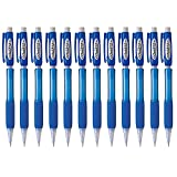 Pentel AX119C Cometz Mechanical Pencil, HB #2, .9mm, Blue (Pack of 12)