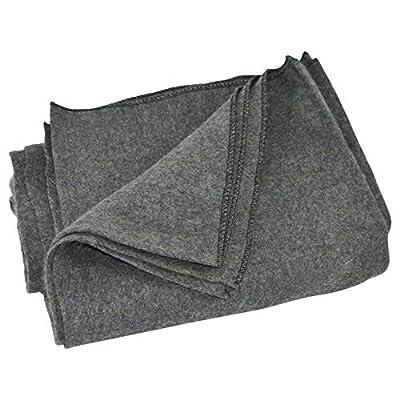 Large Gray Wool Army Military Type Blanket - Surplus Style Emergency Survival Gear | EL Hanes Enterprise