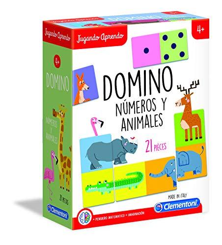 Clementoni- Dominó de los Animales Juego, Multicolor (55314)