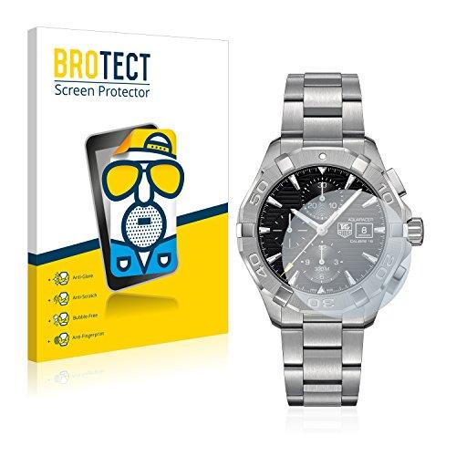 BROTECT 2X Entspiegelungs-Schutzfolie kompatibel mit Tag Heuer Aquaracer (43 mm) Displayschutz-Folie Matt, Anti-Reflex, Anti-Fingerprint