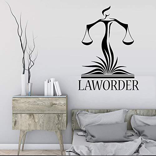 BJWQTY Anwaltskanzlei Wanddekoration Aufkleber Anwalt Gerechtigkeit Waage Gericht Aufkleber Moderne Innendekoration Wallpaper 42X46CM