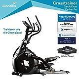 skandika CardioCross Carbon Pro - Vélo elliptique - Masse d'inertie: 23,5 kg - Poids max. 145kg -...