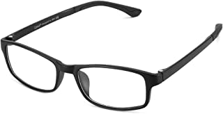 Cyxus Clear Scratch-proof Lens Glasses,Fashion Square Frame Cyxus Square Frame Plain Glasses Clear Scratch-proof Lens Non-prescription Eyeglasses Unisex