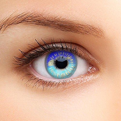 Farbige Kontaktlinsen HEROES OF COSPLAY COMIC ANIME Serie für Cosplay, GUT DECKEND, AUSDRUCKSSTARK, BEQUEM zu tragen (Dunkelblau)