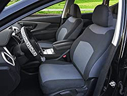 116002 Grey-Fabric 2 Front Car Seat Covers