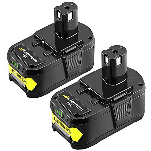 2Packs 18V 6.0Ah Lithium Battery Replacement for Ryobi 18 Volt Battery P102 P103 P104 P105 P107 P108 P109 P122 Cordless Tool