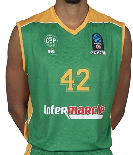 Bigsport Replica Howard Eurocup Limoges Csp - Camiseta de Baloncesto para niño, Niños, Color Verde, tamaño FR : L (Taille Fabricant : 12 ANS)