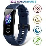 HONOR Band 5 Montre Connectée Homme Bracelet Connecté Montre Intelligente Podometre Cardio Smart Watch Android iOS Etanche IP68...