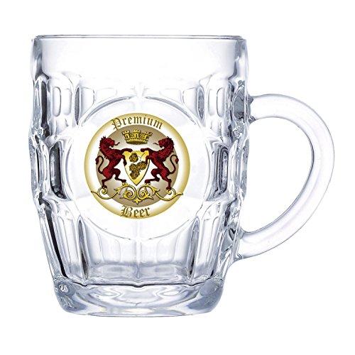 Luminarc - Estuche 2 jarras de cerveza 570 ml, modelo Britania ...