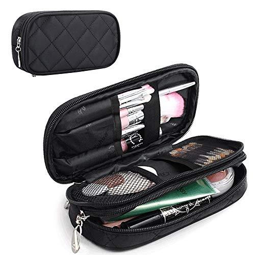MONSTINA Makeup Bag for Women,Pouch Bag,Makeup Brush Bags Travel Kit Organizer Cosmetic Bag (Black)