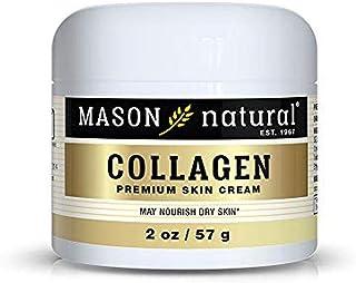 Mason Natural, Collagen Beauty Cream, Pear Scent, 2 Ounce Jar (of 3), Pure Collagen Anti-Aging moisturizer, Promote Elasti...
