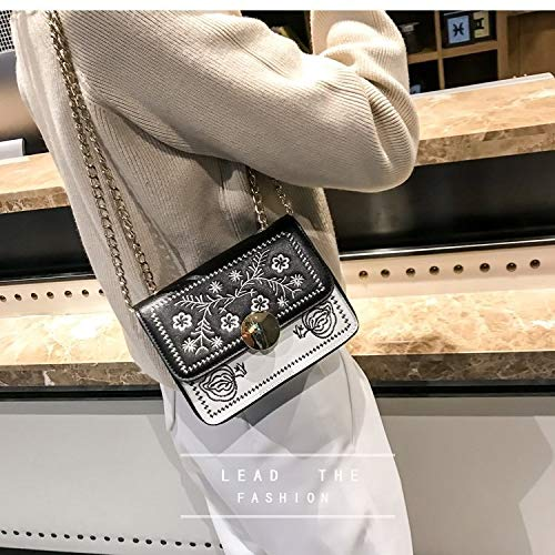 Tangyongjiao Equipaje y Bolsos Hebilla de Metal árabe Bolso Informal Bolso Messenger Bag Bolso de Mujer (Negro) (Color : Black)
