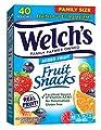 Welch's Fruit Snacks, Berries 'n Cherries, Gluten Free, Bulk Pack, 1.55 oz Individual Single Serve Bags