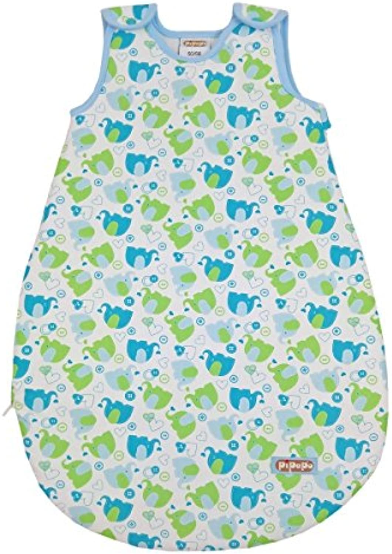 Baby Schlafsack Elefanten  von PIPAPO, Ganzjahresschlafsack - Größe wählbar von 0-12 Monate - Aus eigener regionalen Produktion - Unisex für Jungen und Mädchen Größe 74 80 B0725SF6NY