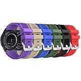 MoKo Cinturino in Silicone Compatible con Galaxy Watch 3 45mm/Galaxy Watch 46mm/Gear S3/Huawei Watch GT2 Pro/GT2e/GT 46mm/GT2 46mm/Ticwatch PRO 3, 22mm Braccialetto Morbido Sportivo, Multicolori B