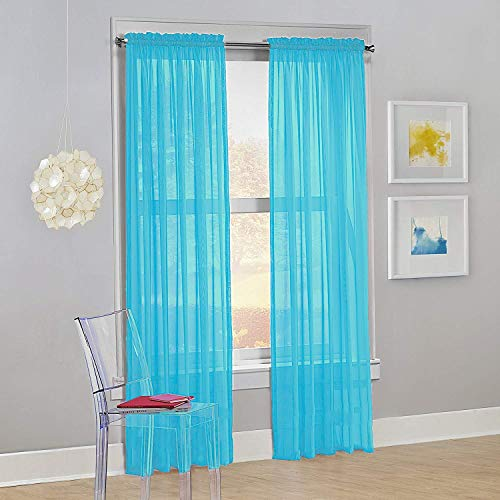 Drape/Panels/Treatment Beautiful Sheer Voile Window Elegance Curtains for Bedroom & Kitchen, 57