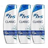 H&S Champú Classic Anticaspa Champú para todo tipo de pelo pH equilibrado 3 Champús 540 ml
